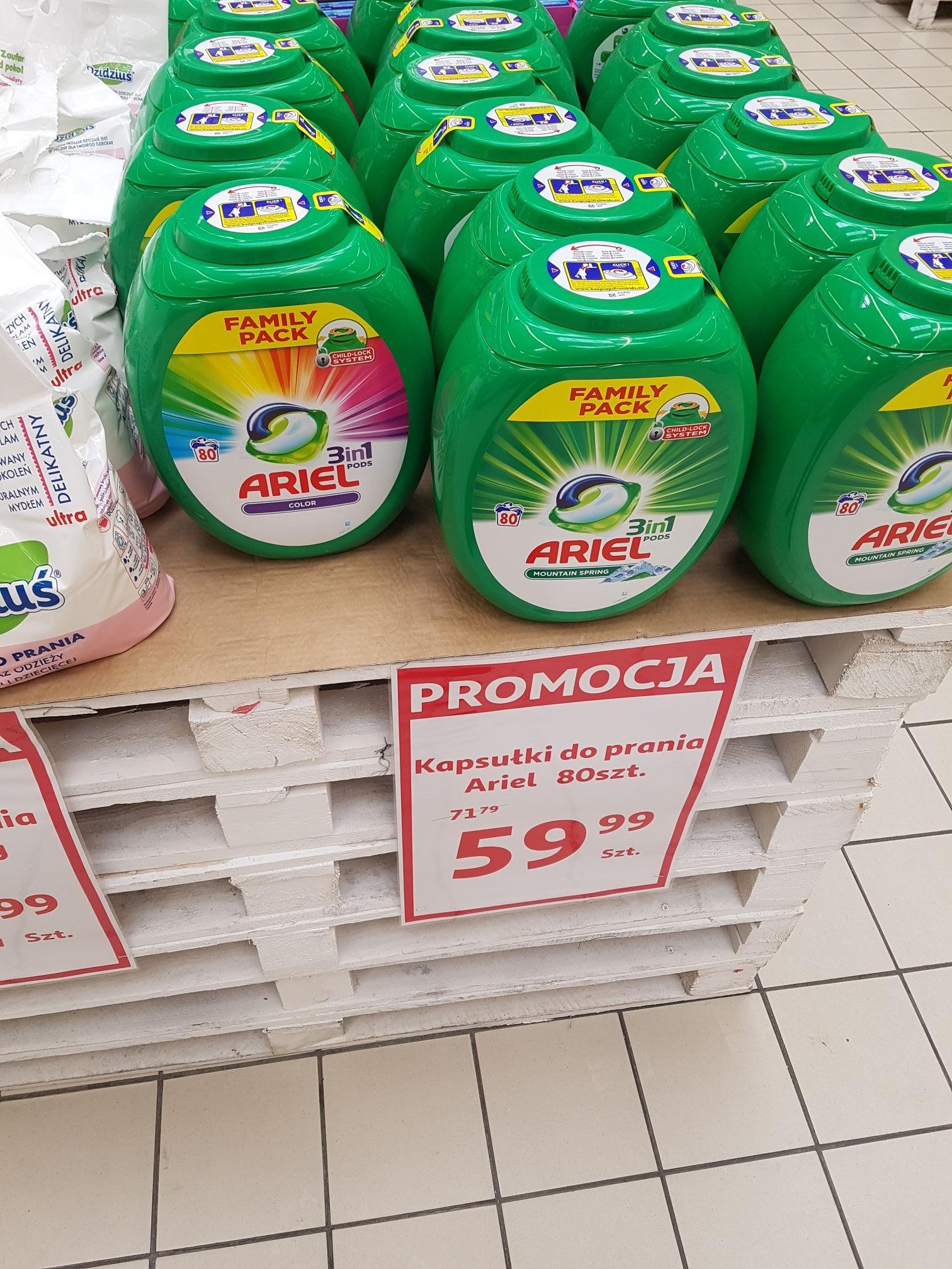 Kapsułki do prania 80 sztuk. Ariel 3in1 w Auchan