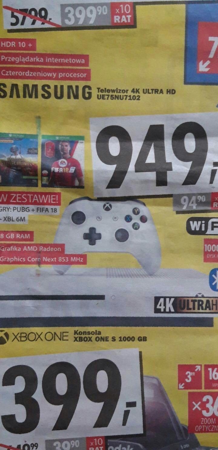 Xbox one 1tb + FIFA 18 + PUBG na otwarcie Media Expert Siedlce