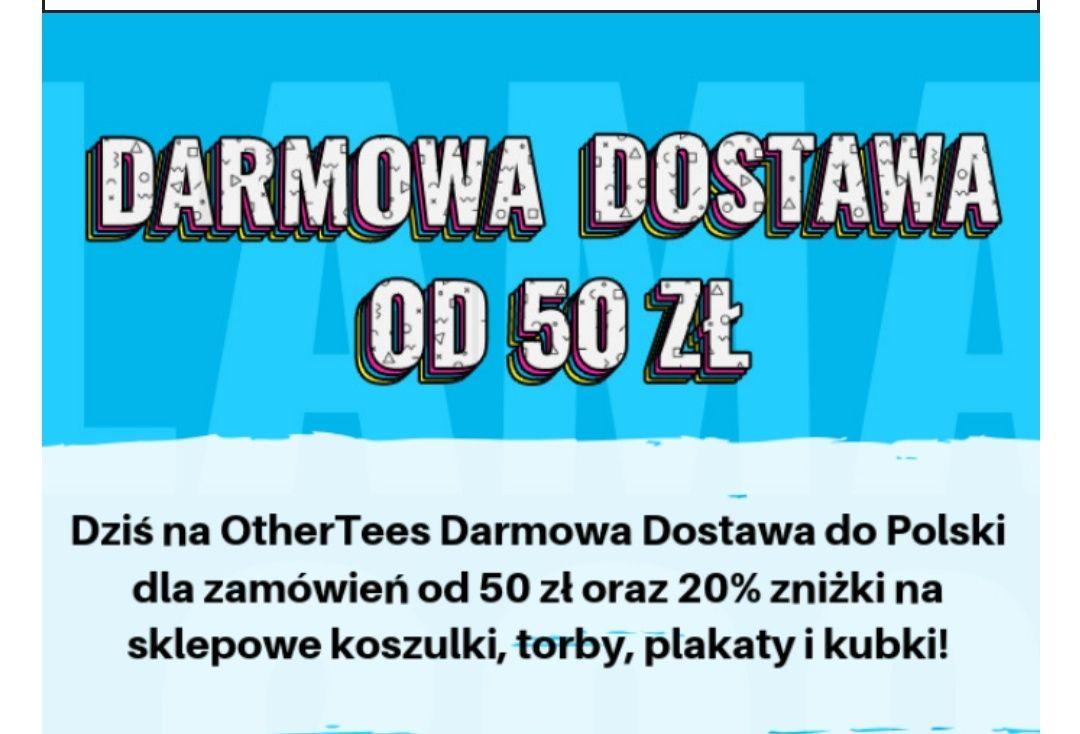 Othertees -25% na koszulki, torby, plakaty i kubki. Darmowa dostawa od 50 zł.