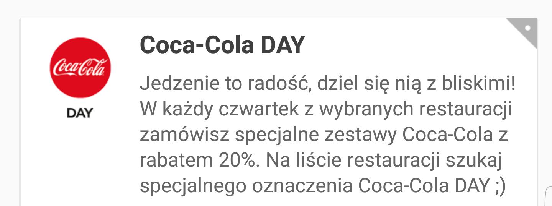 Coca-Cola Day. Zestawy z CC 20% taniej w każdy czwartek