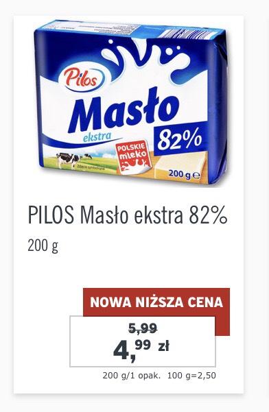 Masło ekstra Pilos 82% 200g Lidl