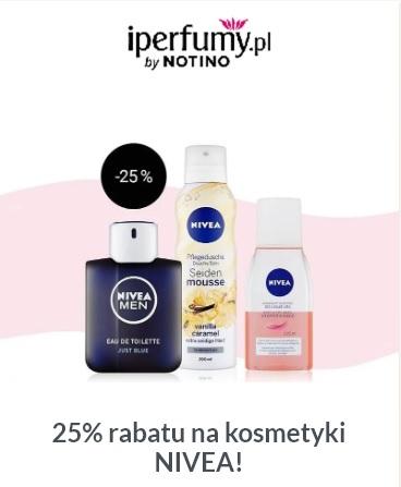 25% rabatu na kosmetyki NIVEA w iPerfumy