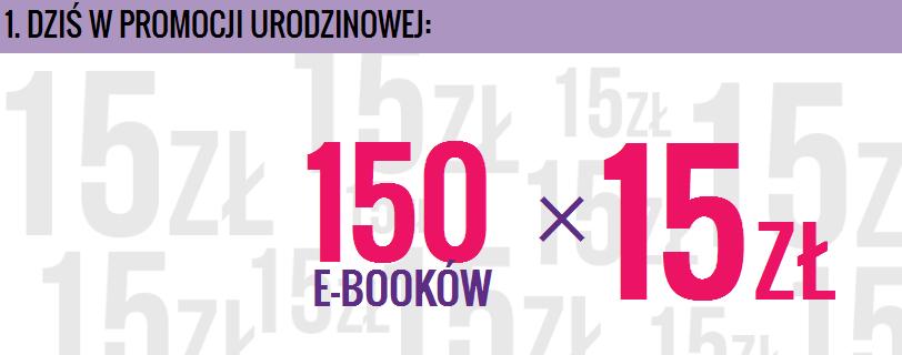 eBooki po 15zł (150 tytułów promocyjnych) @ Woblink