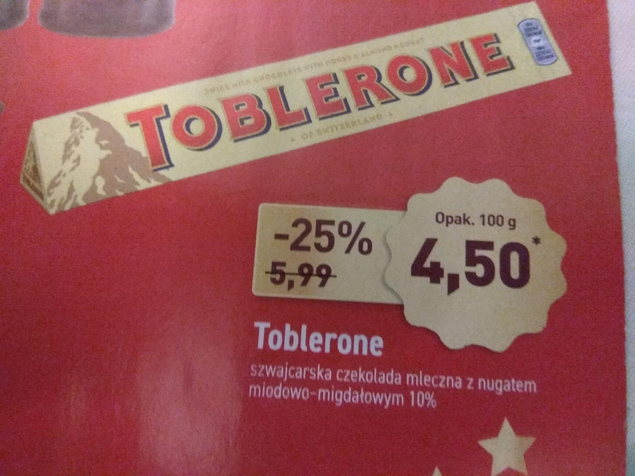 Toblerone za 4,50zł, Aldi