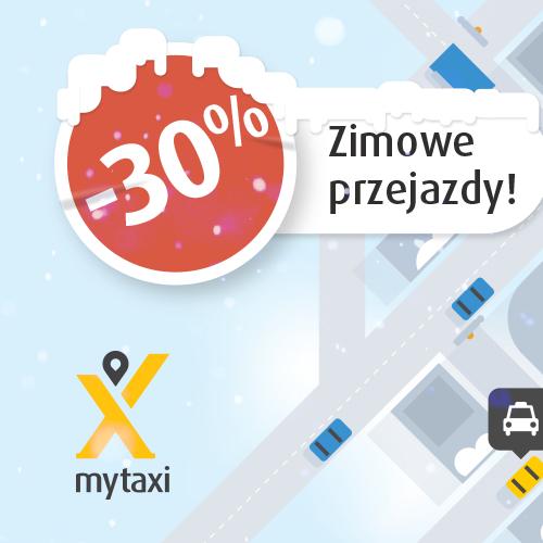 Zimowa promocja MyTaxi -30% - Poznań