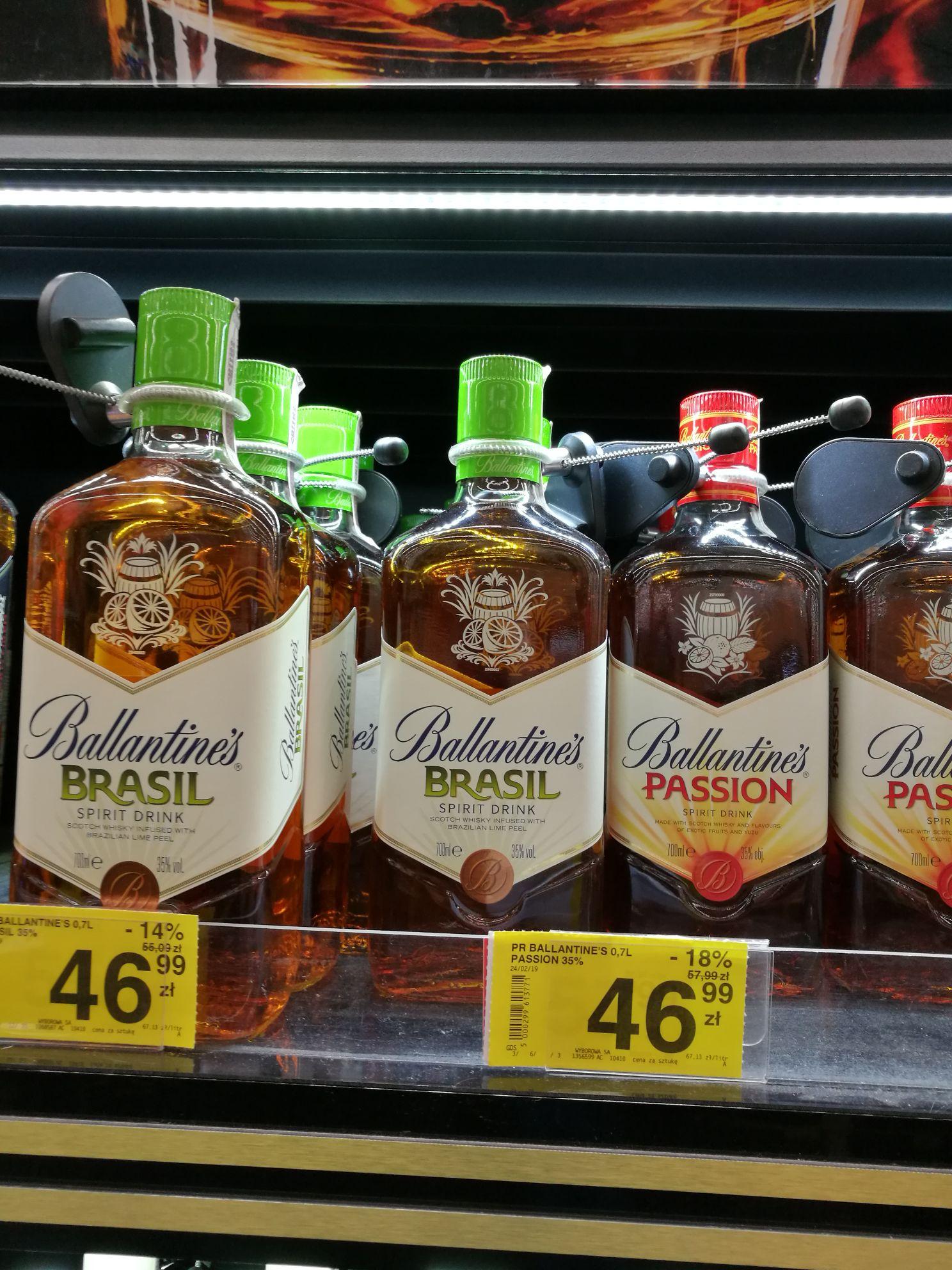 Ballantine's Passion / Brasil whisky whiskey 0,7 L - Carrefour Warszawa Bemowo