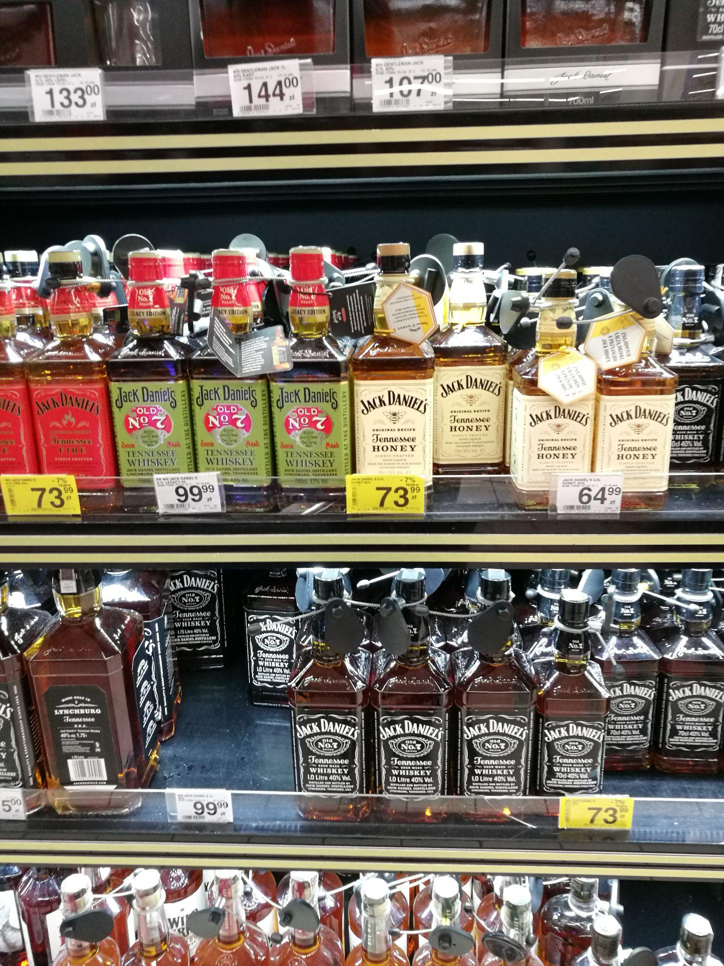 Jack Daniel's / Fire / Honey - 0,7L Carrefour Warszawa Bemowo