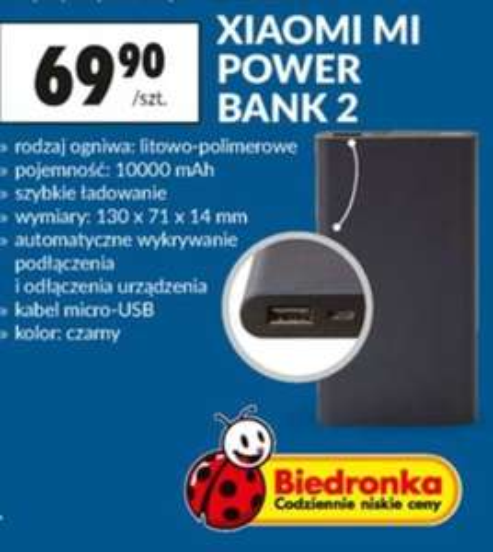 Xiaomi Mi power bank 2 @ Biedronka