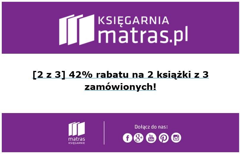 -42% na 2 książki z 3 zamówionych