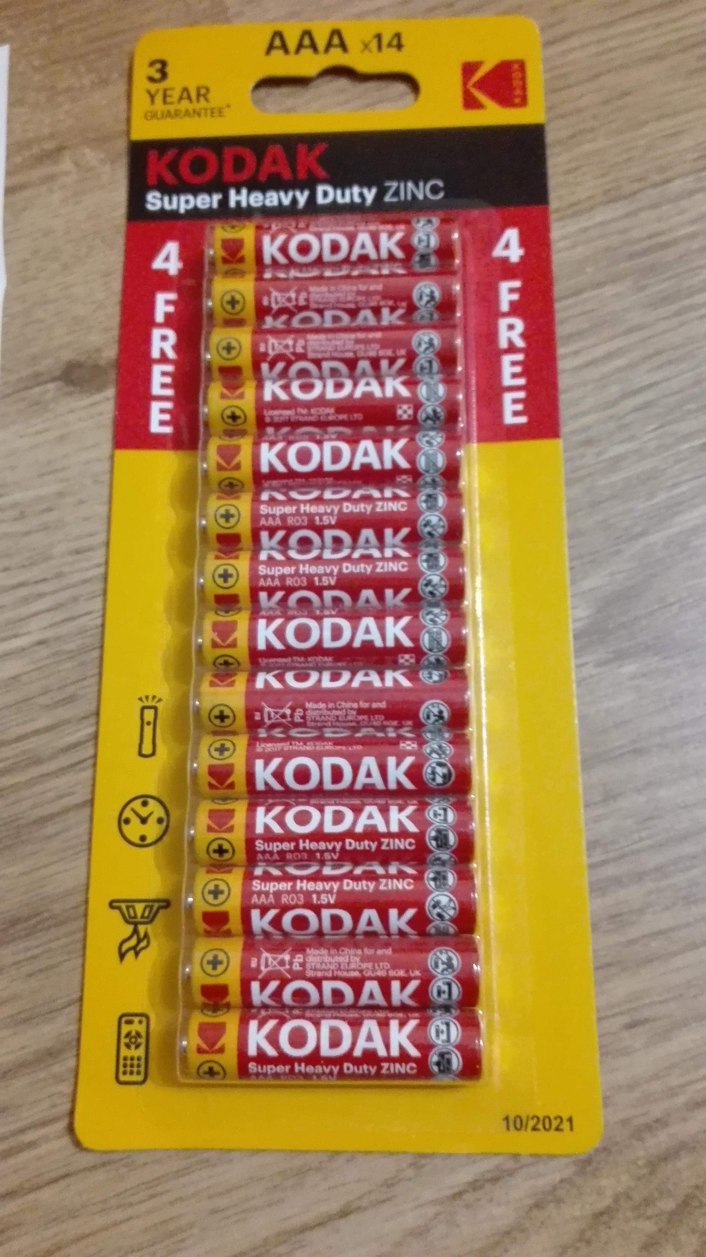 DEALZ baterie kodak 14 szt AAA