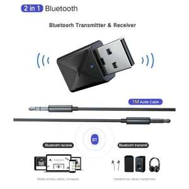 Nadajnik/odbiornik audio Bluetooth 5.0 USB za 1,89$ (7.08PLN)
