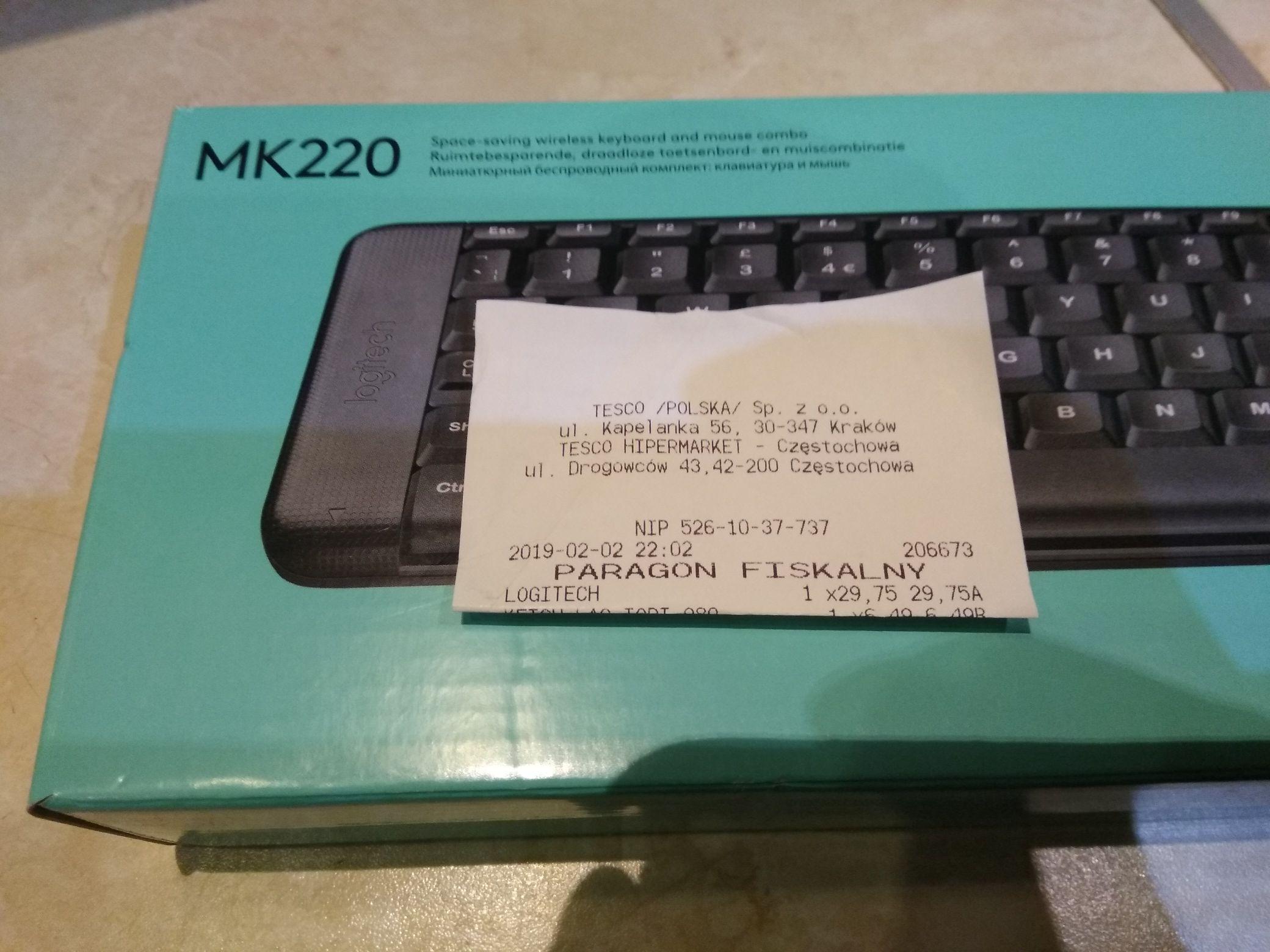 Błąd cenowy klawiatura+mysz Logitech