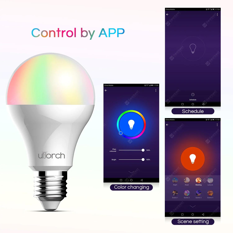 LED smart RGB WiFi Utorch BW - 5 $8.99 E27 9W 900lm żarówka
