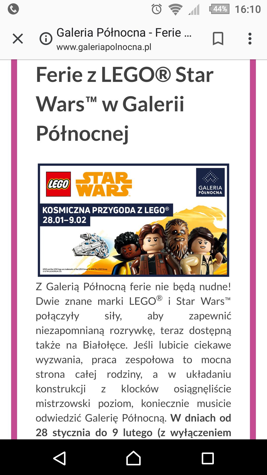 Lego w galerii północnej Warszawa dla dzieci