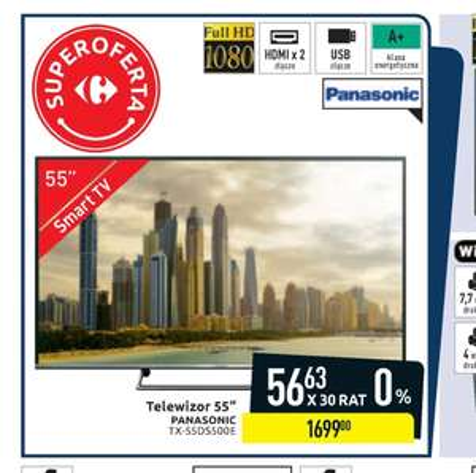 "Panasonic TX-55DS500E Carrefour Smart Tv 55"""