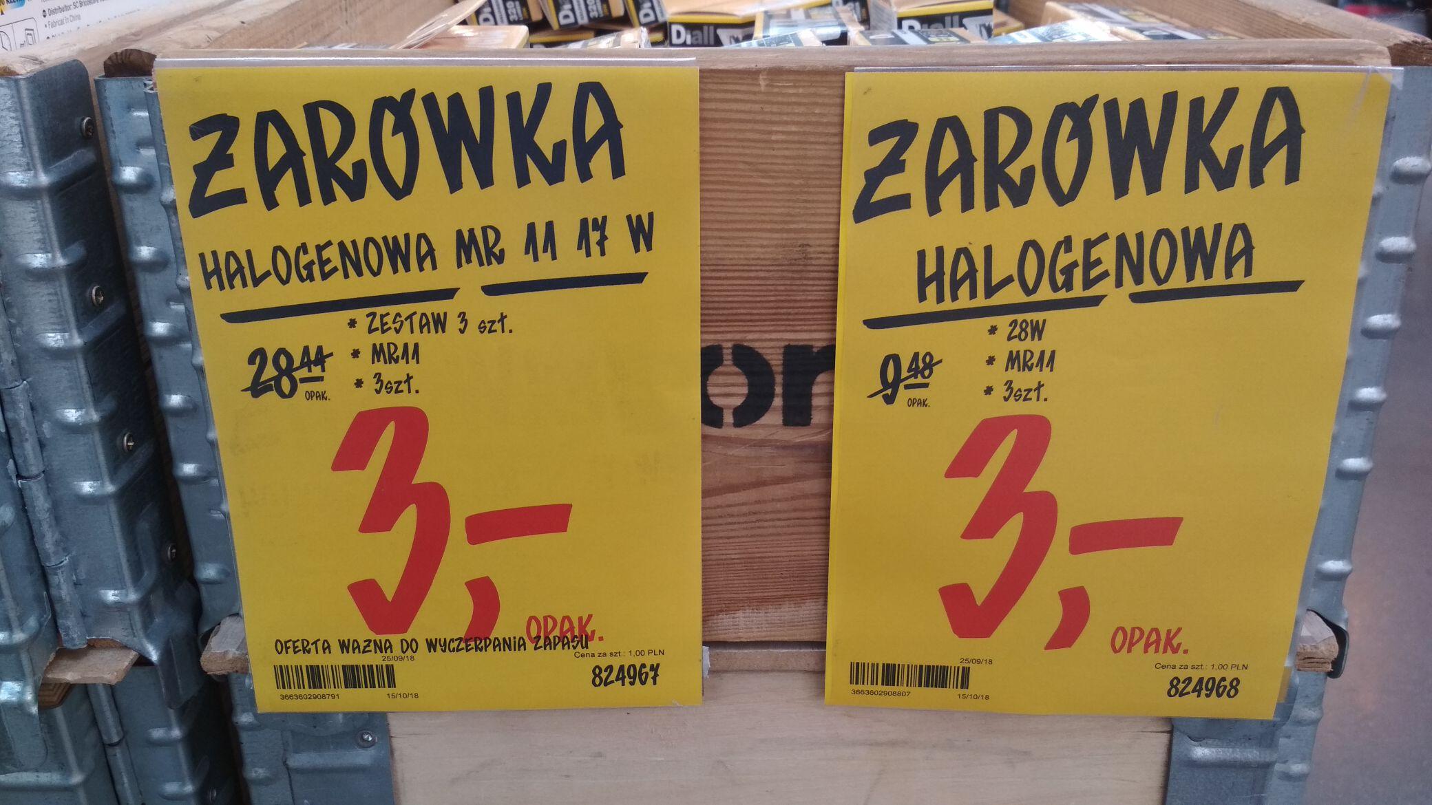1zł za żarówkę halogenową mr 11 i inne za niską cenę!