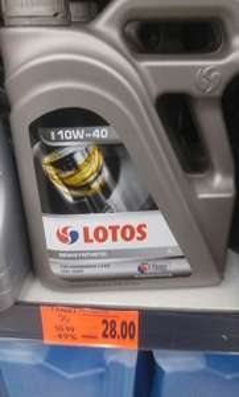 Olej pólsyntetyk 10w40 Lotos 4L - Kaufland