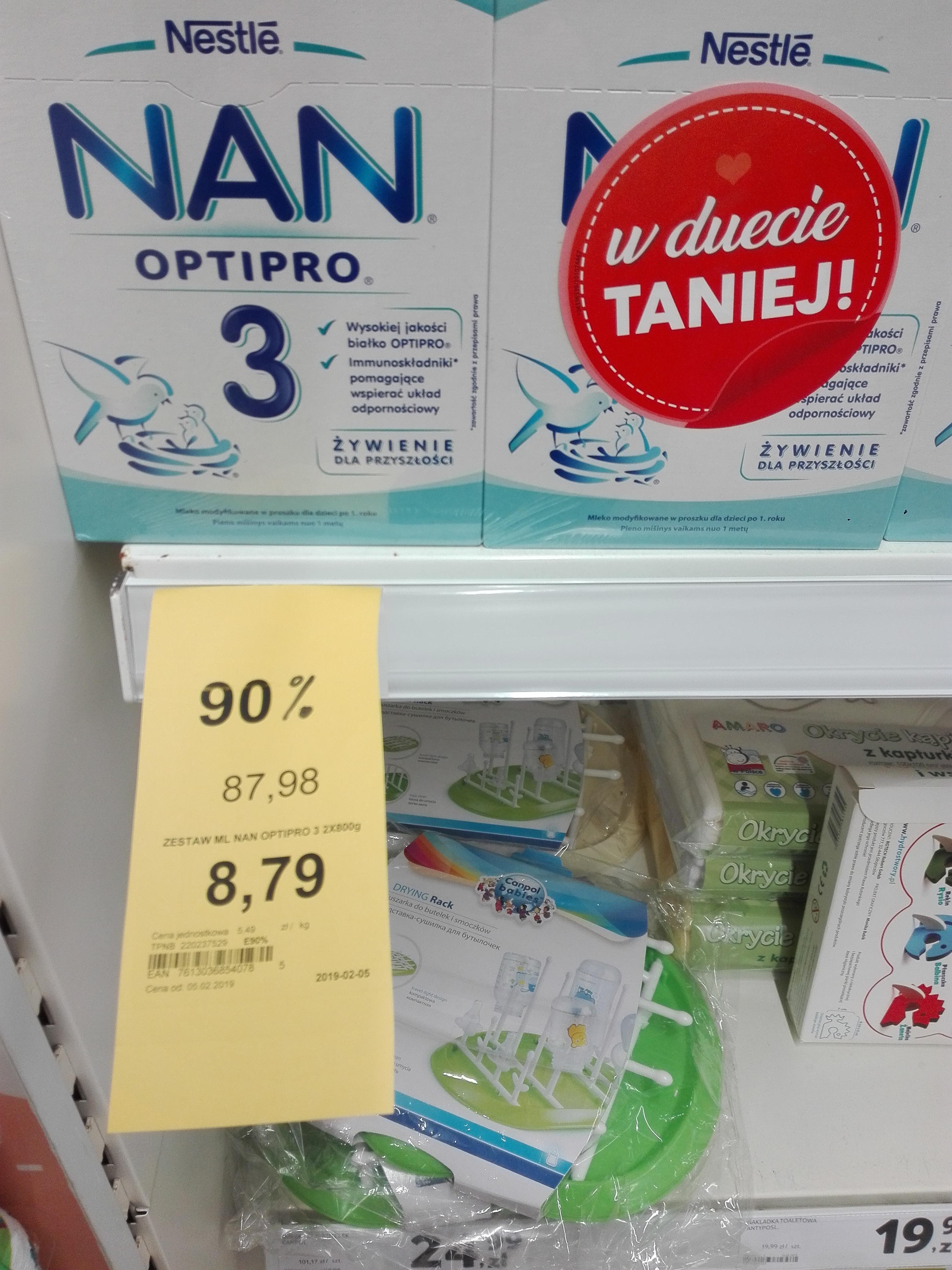 NAN Optipro 3 2x800g Tesco Gdynia