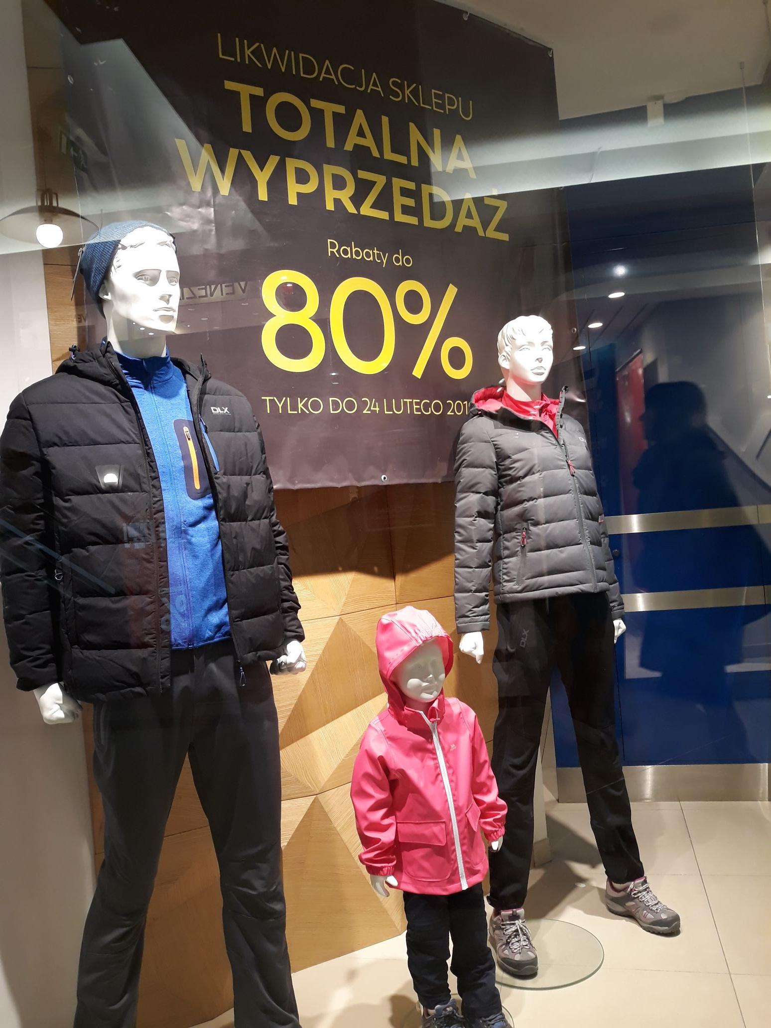 Likwidacja sklepu Trespass Rzeszów Grafika