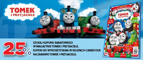 -25% na zabawki Tomek i Przyjaciele @ Carrefour