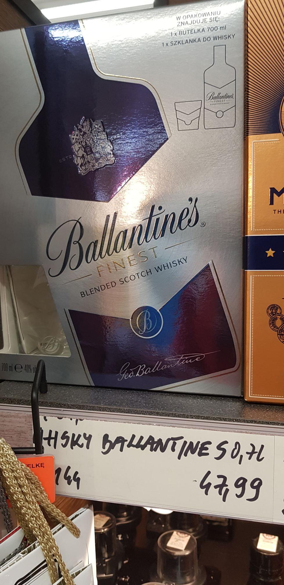 Ballantines Finest 0.7+ 1 szklanka