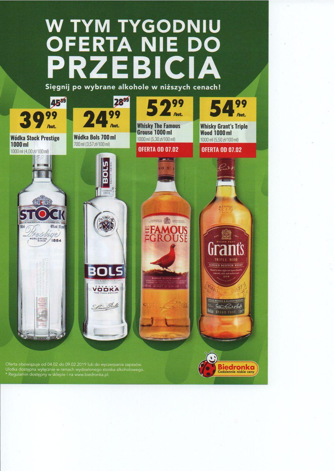 Promocja na alkohol w Biedronce