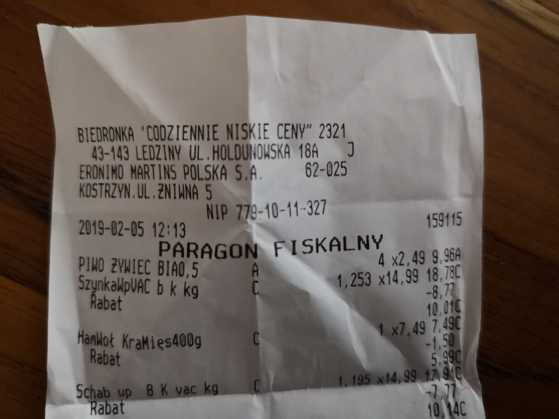 Żywiec białe w puszce po 2,49 w Biedronce