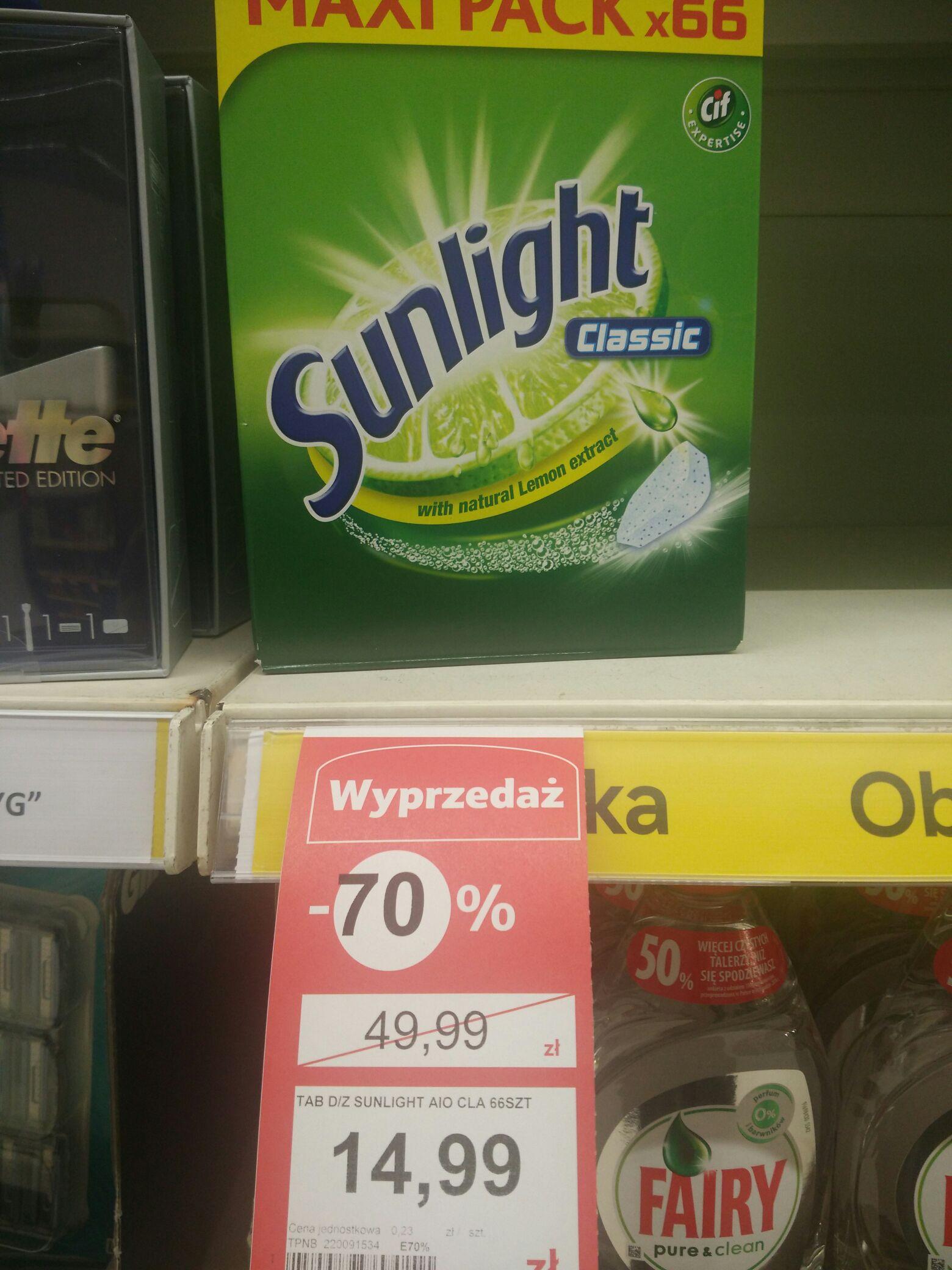 Tabletki sunlight 66szt. 0.23pln/szt