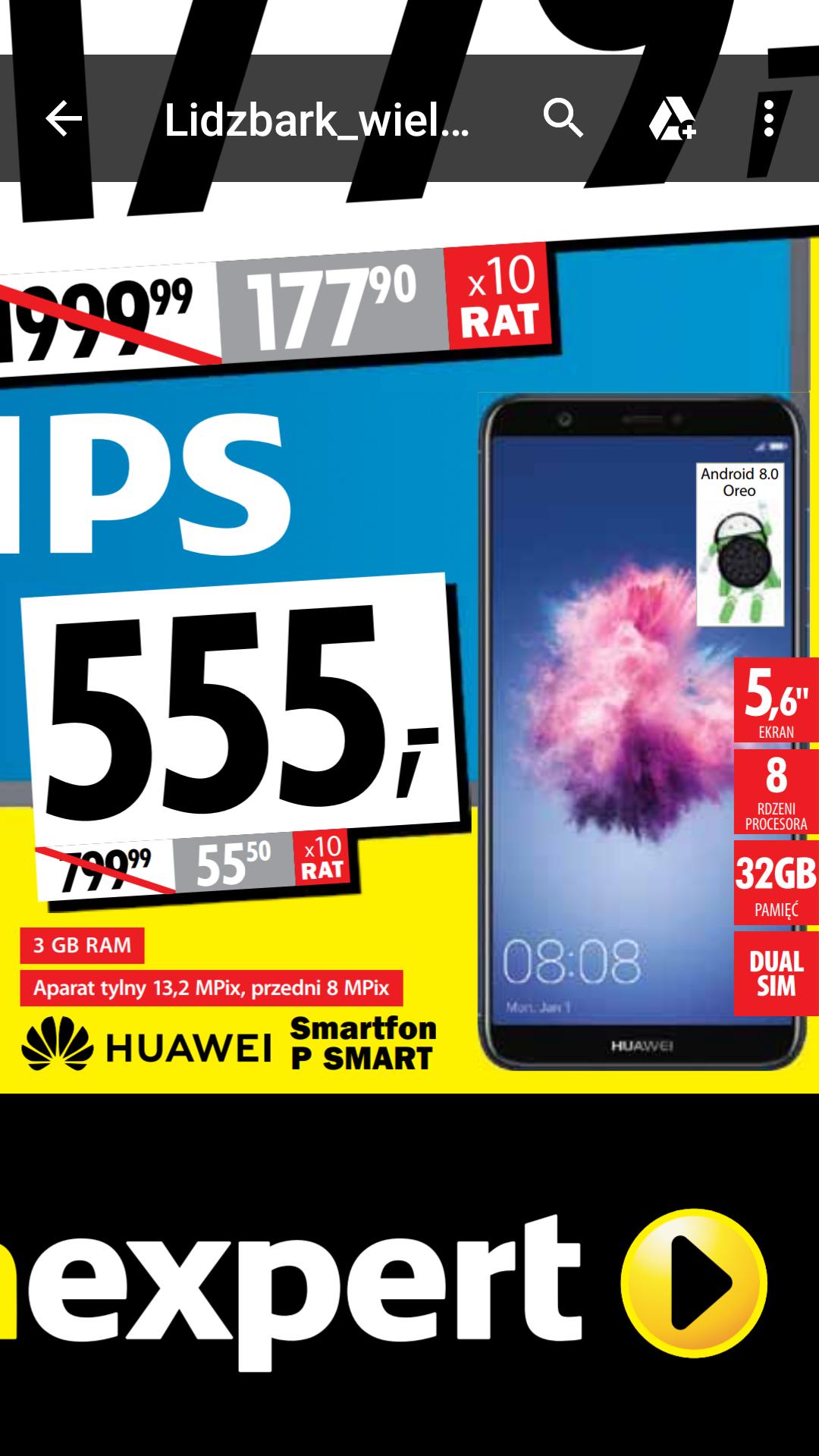 Huawei P Smart Dual Sim - Lidzbark - Media Expert - Wielkie Otwarcie