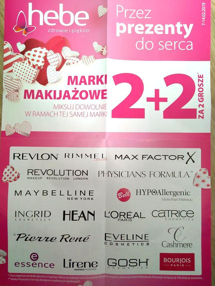 Marki makijażowe 2+2 za 2 grosze @ Hebe