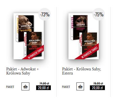 Pakiety książek po 20-50zł + książki za 1zł @ Wydawnictwo Święty Wojciech