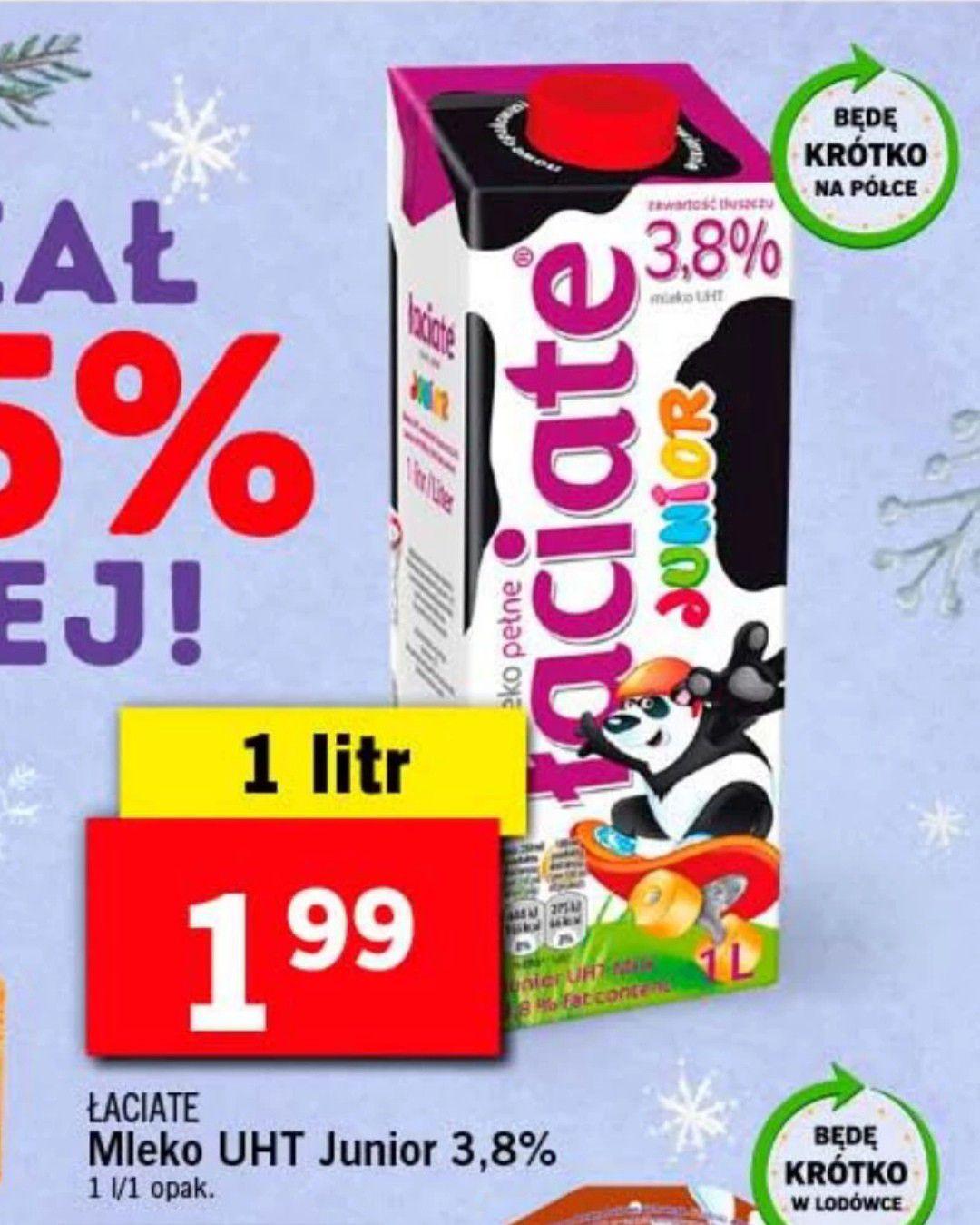Mleko Łaciate UHT Junior 3.8% 1litr @ Lidl
