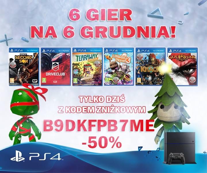 [Playstation 4] 6 wybranych gier 50% taniej (min God of War, Driverclub czy Little Big Planet 3) @ PSstore