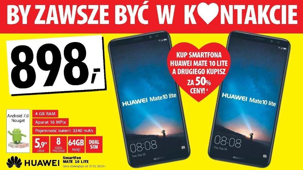2x Huawei Mate 10 Lite 4/64GB - drugi za pół ceny (tylko 673,50zł za 1) @ Media Expert