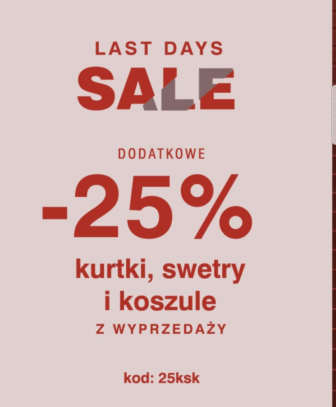 -25% rabatu na przecenione kurtki, swetry i koszule  W @Diverse