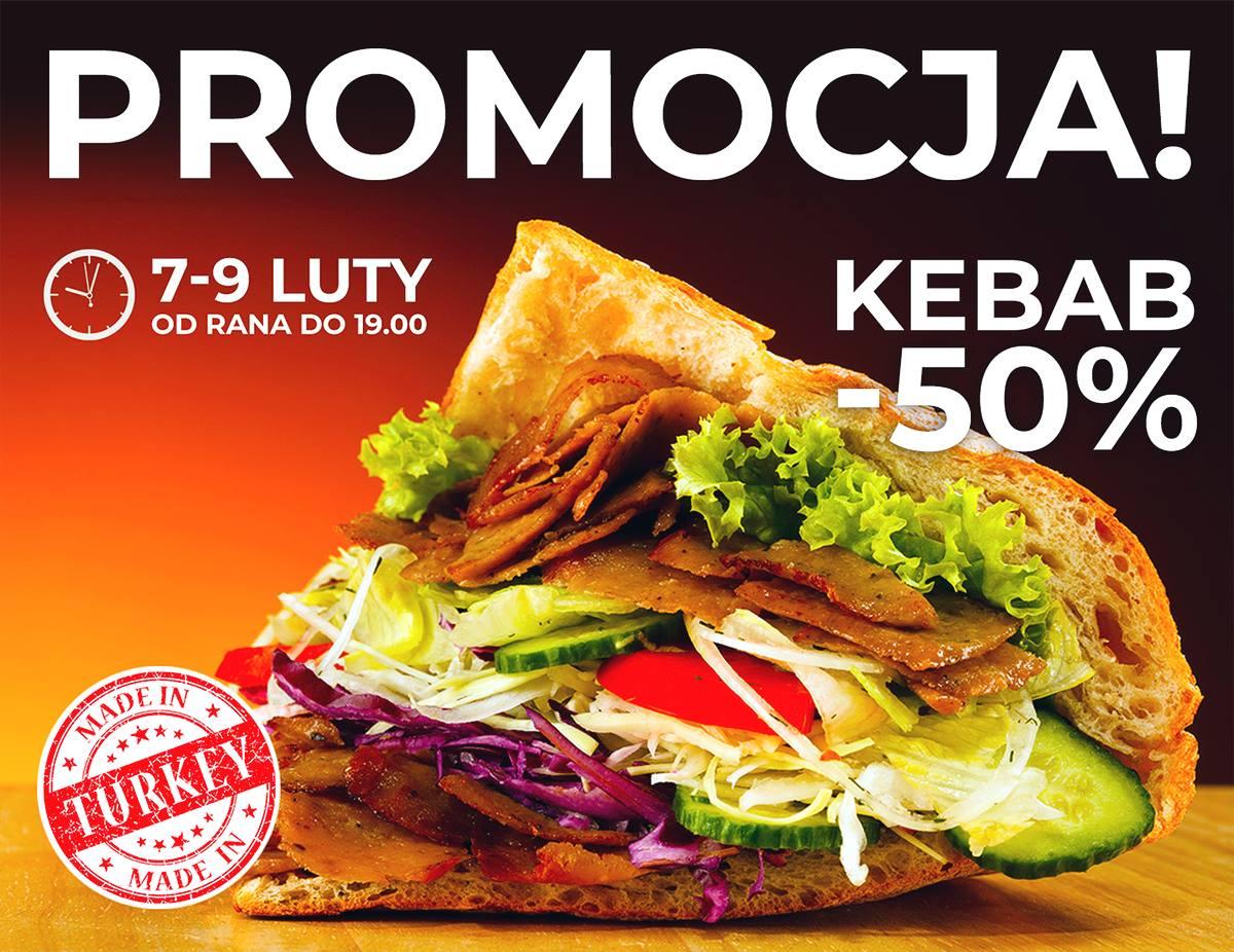KEBAB TURKA - Kuchnia Turecka PIŁA -50% na wszystko z kebabem! do 19