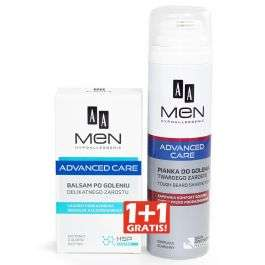 AA outlet - Zgrzewka AA MEN ADVANCED CARE BALSAM PO GOLENIU DELIKATNEGO ZAROSTU 100 ML + PIANKA DO GOLENIA TWARDEGO ZAROSTU 250 ML
