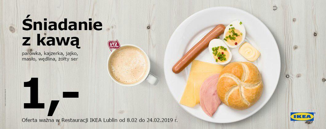 Śniadanie z kawą IKEA Lublin 1 zł
