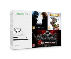 Microsoft Xbox One S 500GB + Halo 5 + Rare Replay + GoW