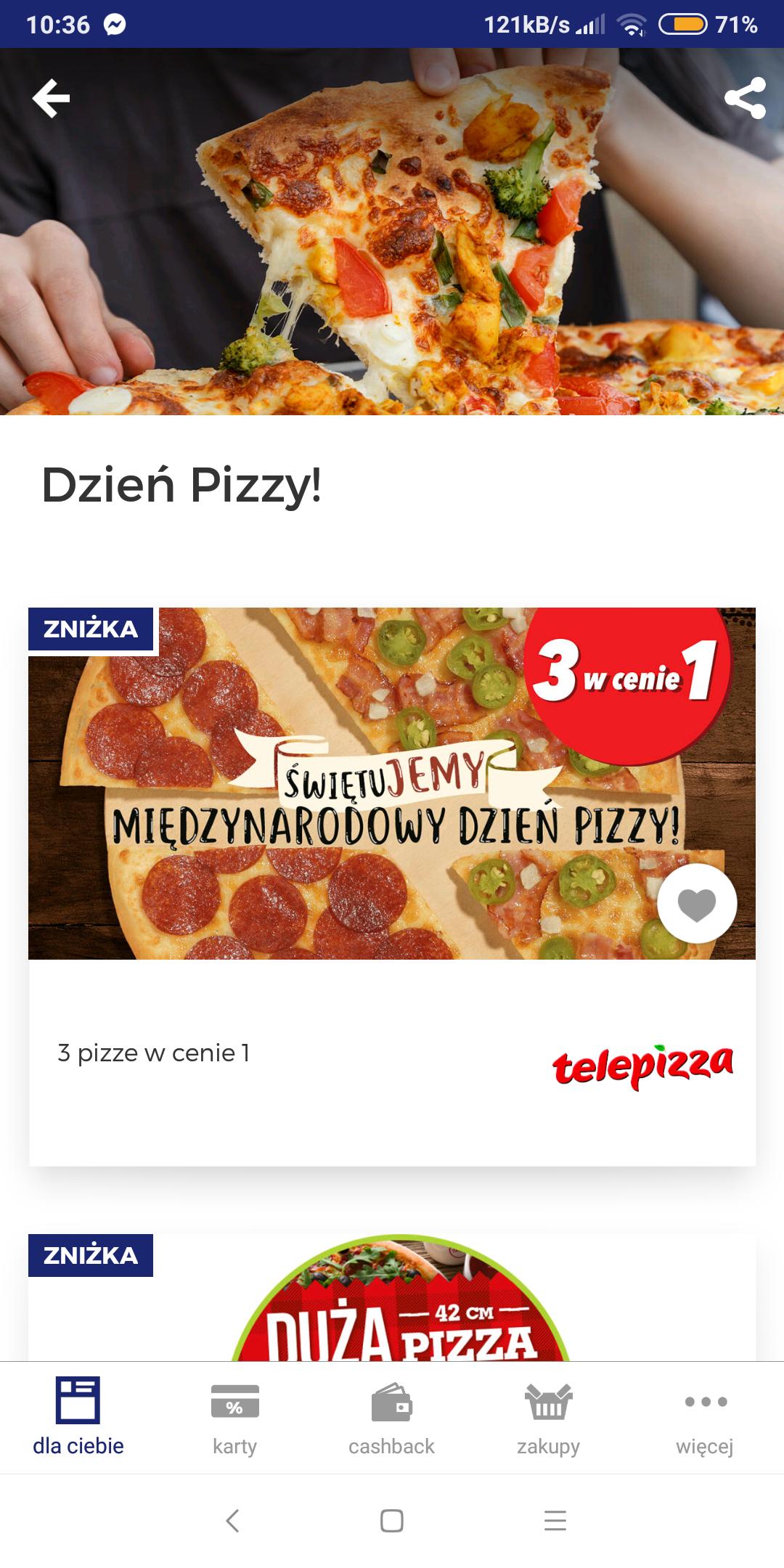 Telepizza 3 picki w cenie 1