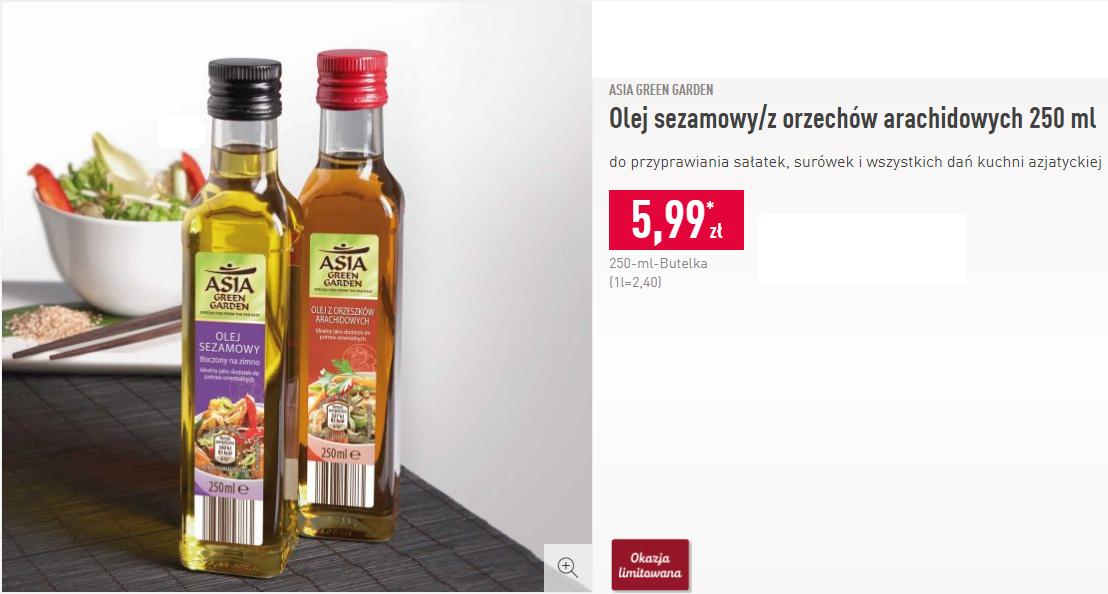 Olej sezamowy/z orzechów arachidowych 250 ml - Aldi