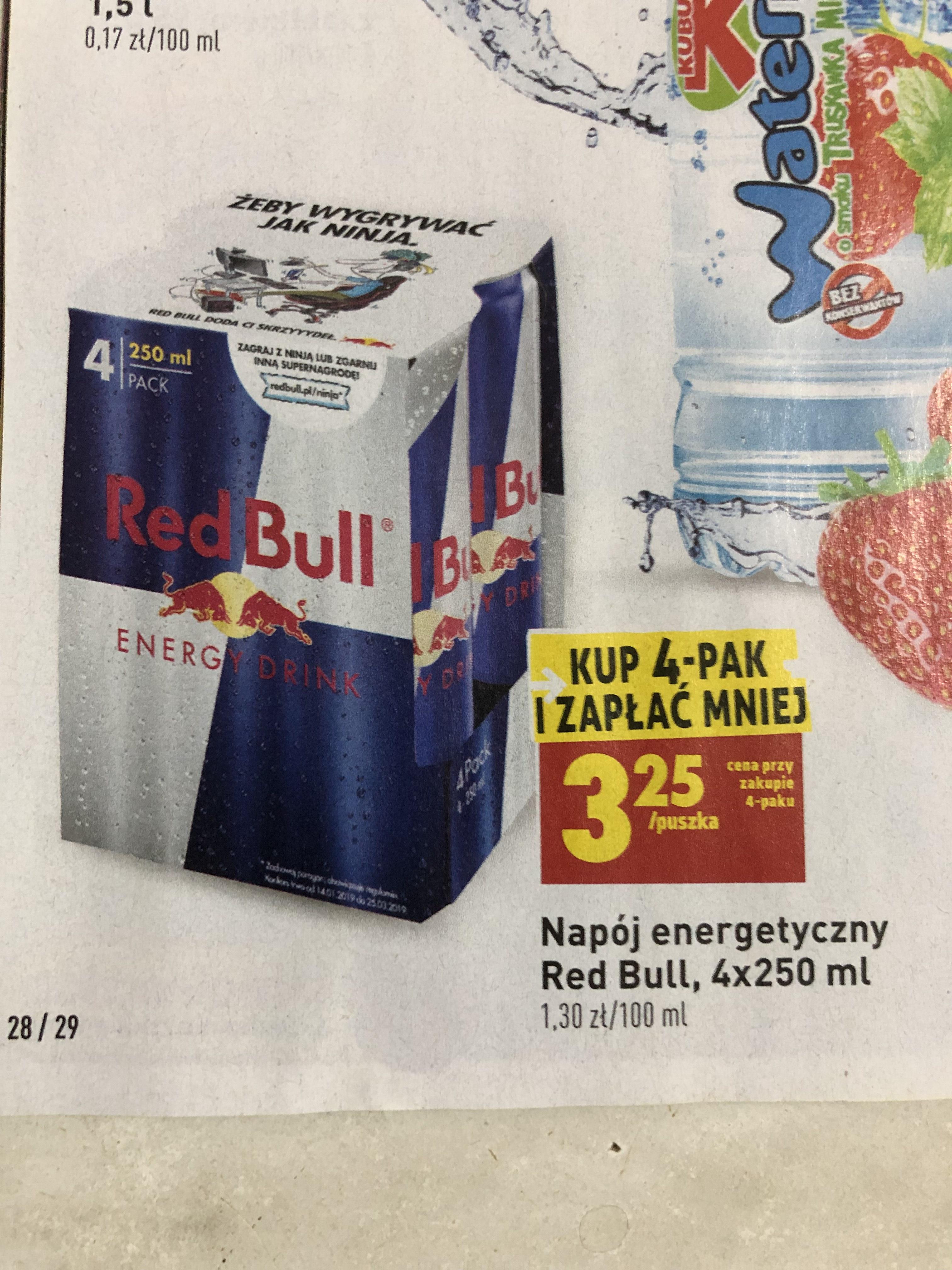 Biedronka Red Bull 4-pak