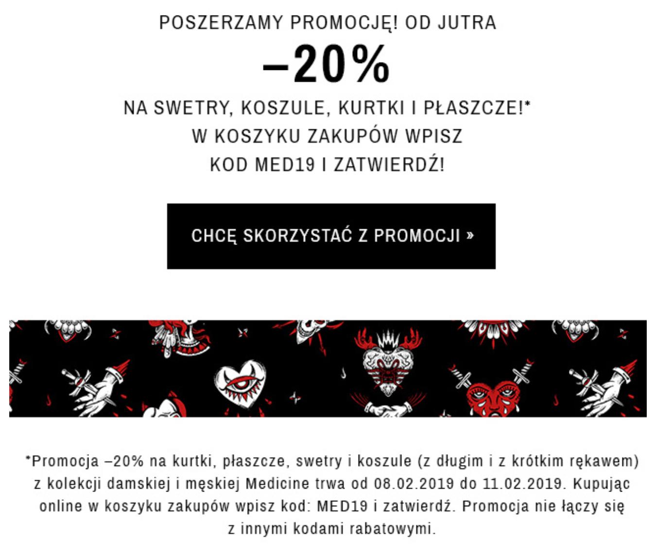 Medicine - 20% swetry, koszule, kurtki, płaszcze