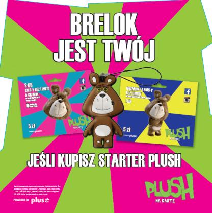 Kup starter i przygarnij brelok Plusha @ Plus