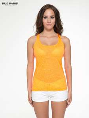 Fluopomarańczowy letni top damski typu bokserka @ Butik