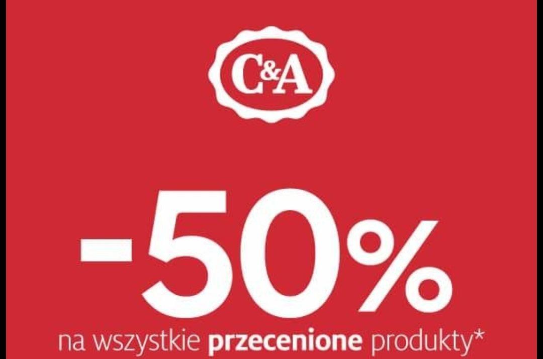 -50% na przecenione produkty C&A