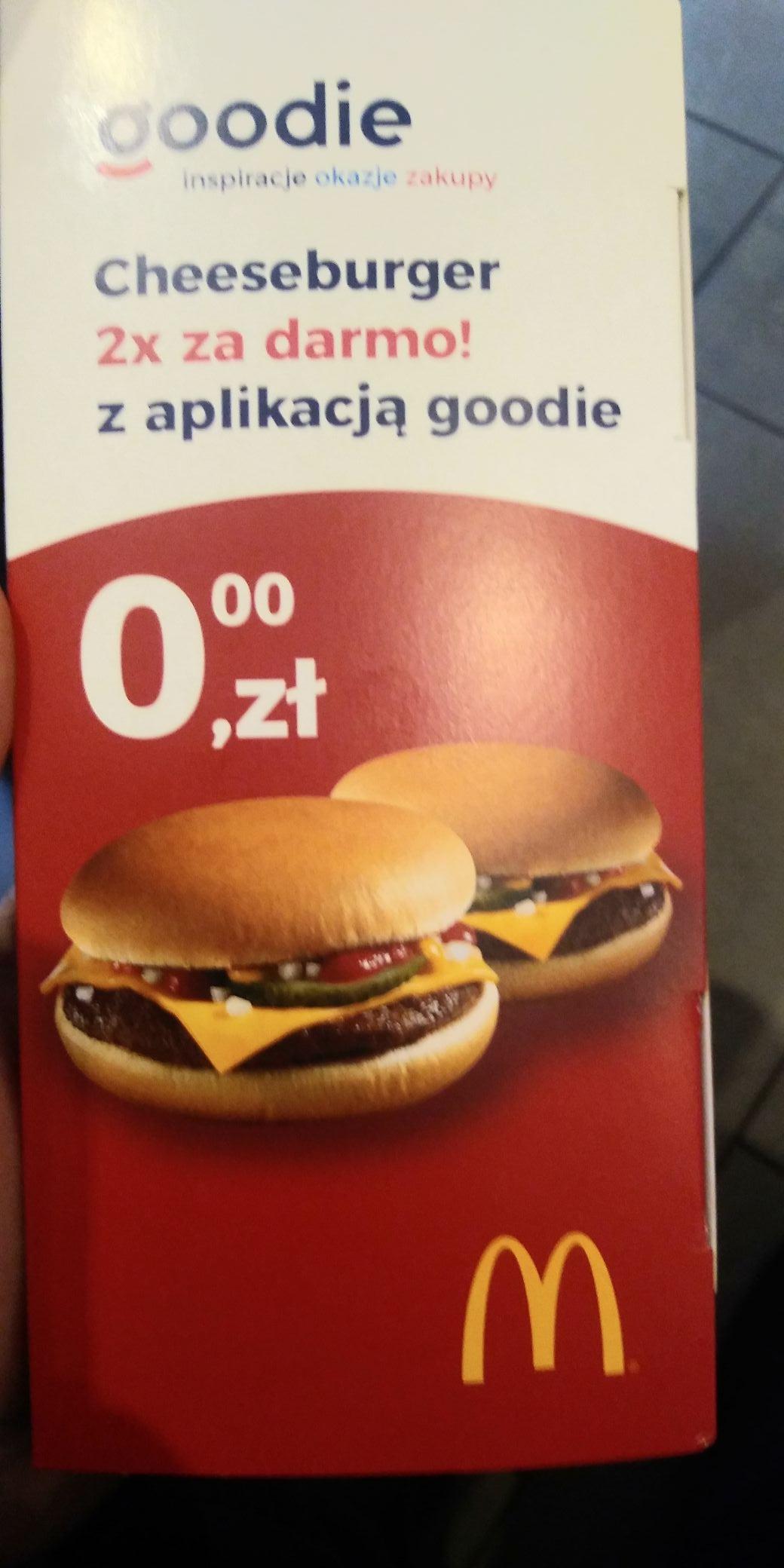 Darmowe dwa cheeseburgery z aplikacją goodie