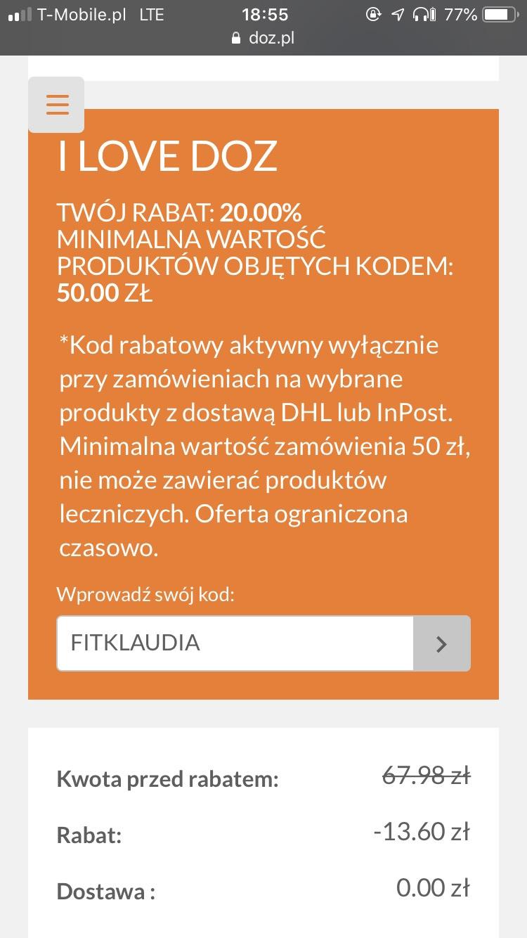 -20% w aptece DOZ online