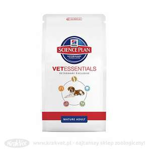 HILL'S Vet Essentials Canine Mature Adult 2kg - 50% taniej