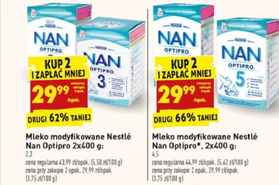 Mleko Nestlé NAN Optipro 2, 3, 4, 5 Biedronka